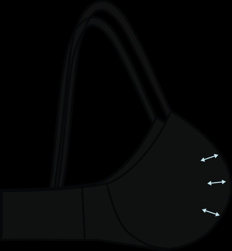 Illustration of a padded bra