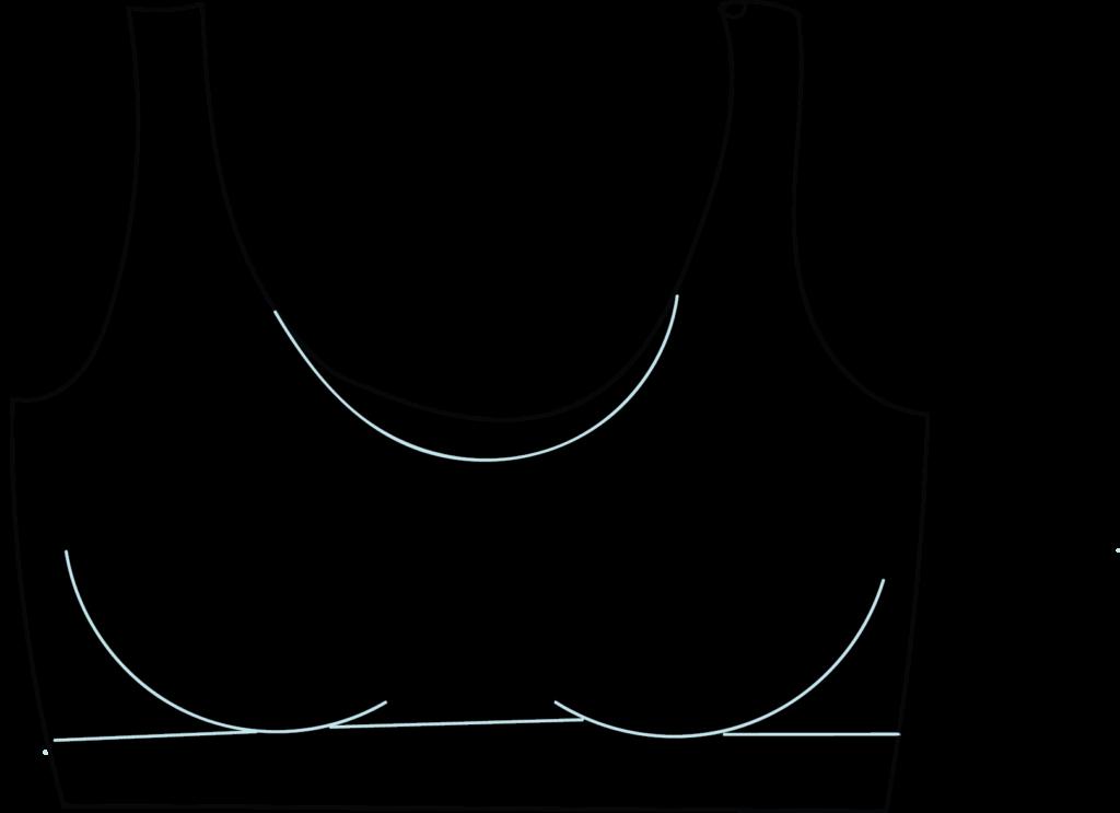 Illustration of a sports bra
